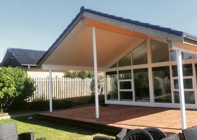 Forlængelse af tag og terrasse