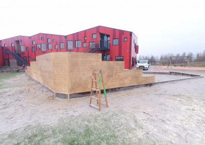 Ny læ væg til vebenge skolen