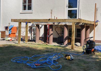 Ny terrasse i camaru hårdtræ